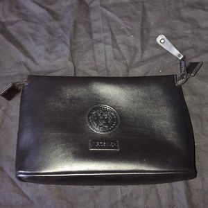 Versace leather travel cosmetic bag